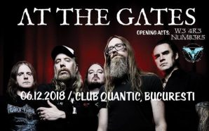 About At the Gates gig; opening acts: W3 4R3 NUM83R5…